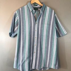 Vintage Striped Collared Button Up Shirt